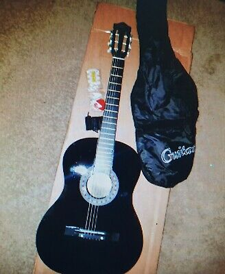 "38"" Beginner Acoustic Guitar Starter Kit w/ Case, Strap, Digital E-Tuner - Black"