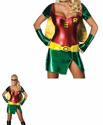 Robin Teen Titans Adult Women's Halloween Cosplay Costume   - Robin Teen Titans Kostüm