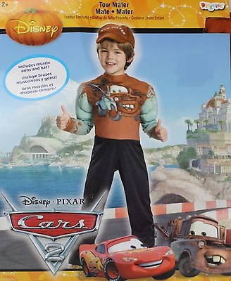 Disney Cars Tow Mater Boys Costume Size Small 4-6 NWT (Car Costume)