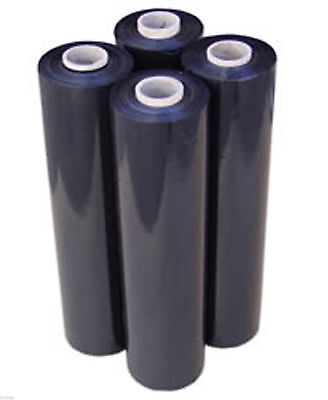 80 Gauge - 4 Rolls Black Shrink Wrap Stretch Film 18 X 1000 Total 4000 Ft