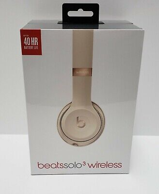 Beats by Dr. Dre Solo3 Wireless Headphones Satin Gold (Factory Sealed)