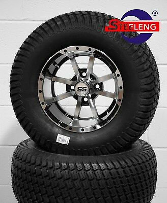 "GOLF CART 12"" STORM TROOPER WHEELS and 23"" STREET TURF TIRES (SET OF 4)"