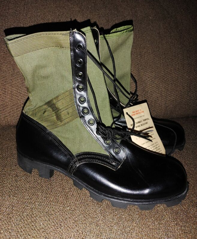 NOS 1968 USArmy Vietnam JUNGLE COMBAT BOOTS UNISSUED SPIKEPROTECTIVE 12R bellvil