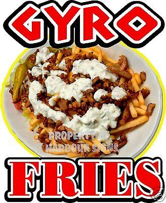 Gyro Fries Decal 14 Gyros Concession Cart Restaurant Food Truck Vinyl Sticker