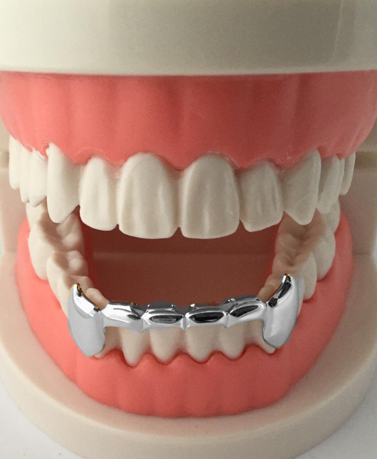 e78463e97f59c Hip Hop Silver Mouth Teeth Grills Grillz - Bottom Lower Fangs S020-HS фото