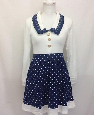 NWT Mary Rose navy white kawaii lolita Dress yumetenbo (826