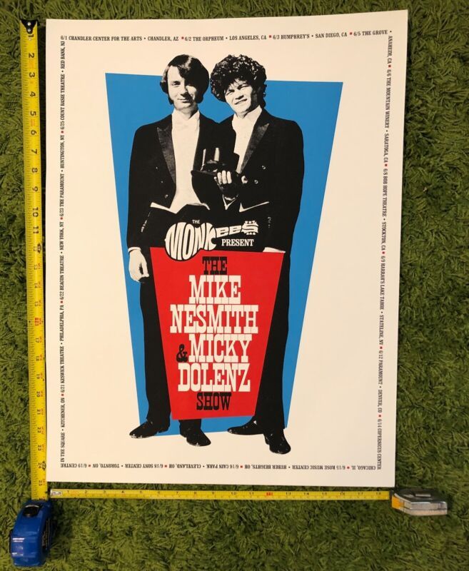 2018 THE MONKEES AUTHENTIC TOUR POSTER MIKE & MICKY SHOW NEZ 24.5 X 19INCHES
