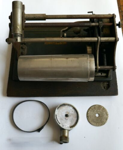 Antique 1901 Columbia American Graphophone Type Q Phonograph w/ Reproducer