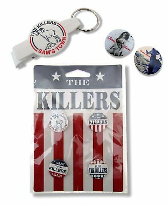 The Killers 7 Piece Buttons and Bottle Opener Keychain Gift Set New Official