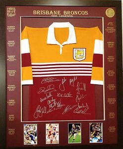 Blazed in Glory - Brisbane Broncos Legends - NRL Signed & Framed Jersey