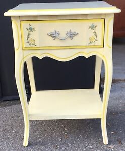 Vintage Single Drawer Dixie French Provincial Nightstand