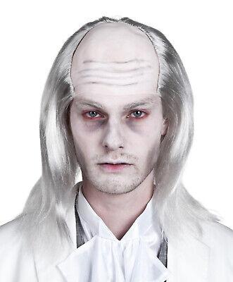 Glatzköpfig Alter Mann Perücke Verrückter Wissenschaftler Kostüm Professor Lang