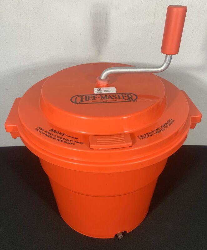 CHEF-MASTER 5-GALLON SALAD SPINNER with BRAKE INTEREK 4010968