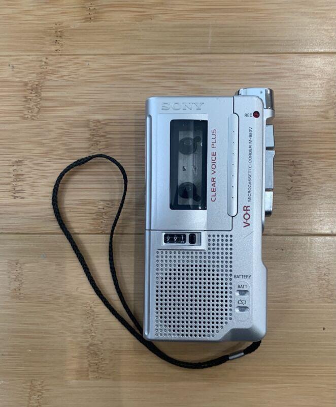 Sony Pressman M-650V Handheld Cassette Voice Recorder - Ships Same Day