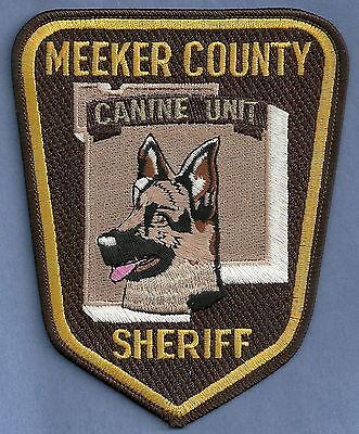 MEEKER COUNTY SHERIFF MINNESOTA POLICE K-9 UNIT PATCH