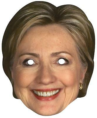 Hillary Rodham Clinton Papier Maske Demokratische Politisch Kostüm FM77392