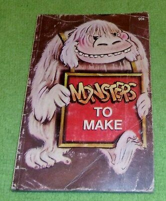 1979 Monsters to Make childrens book Halloween rare display - Monsters Halloween Book