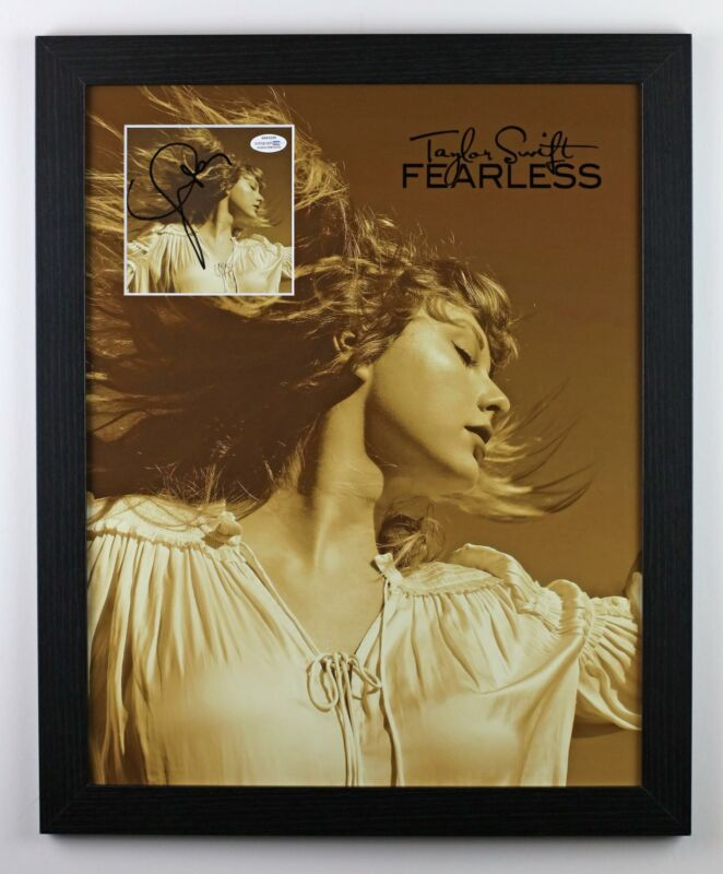 Taylor Swift Autographed Signed 16x20 Fearless Framed Photo CD Display ACOA