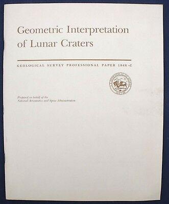 USGS APOLLO 15 16 17 INTERPRETATION OF CRATERS 1980 Mission Details, Research