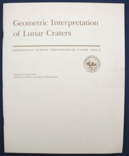 USGS APOLLO 15 16 17 INTERPRETATION OF CRATERS 1980 Mission Details, Research