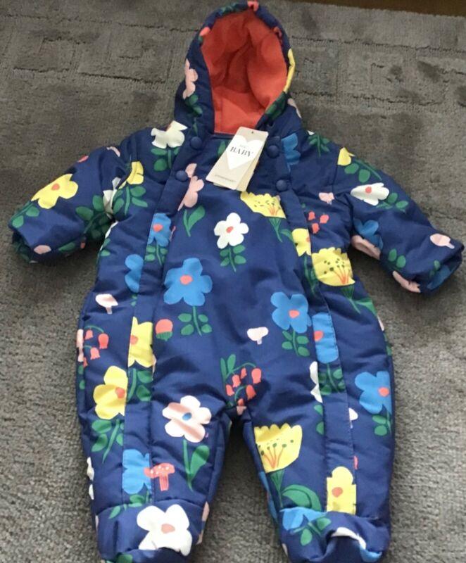 MARKS & SPENCER Girls Fleece Lined Snowsuit Hooded 0-3 Months BNWTS