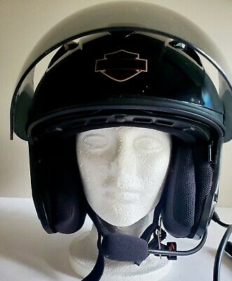 HARLEY DAVIDSON HD-J1V 3/4 Helmet, Sun Shield. L. W/ HD Boom audio