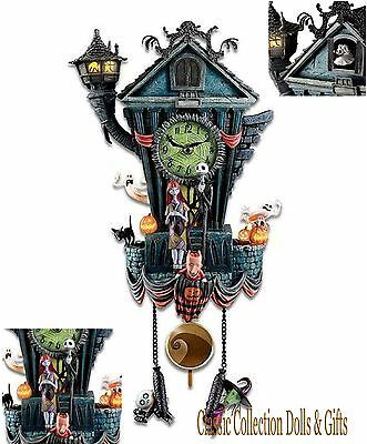 "TIM BURTON'S -""NIGHTMARE BEFORE CHRISTMAS""-DISNEY CUCKOO CLOCK-NEW-IN STOCK NOW!"