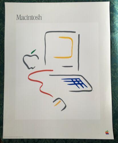 Vintage Original 1984 Apple Macintosh Poster Picasso Style