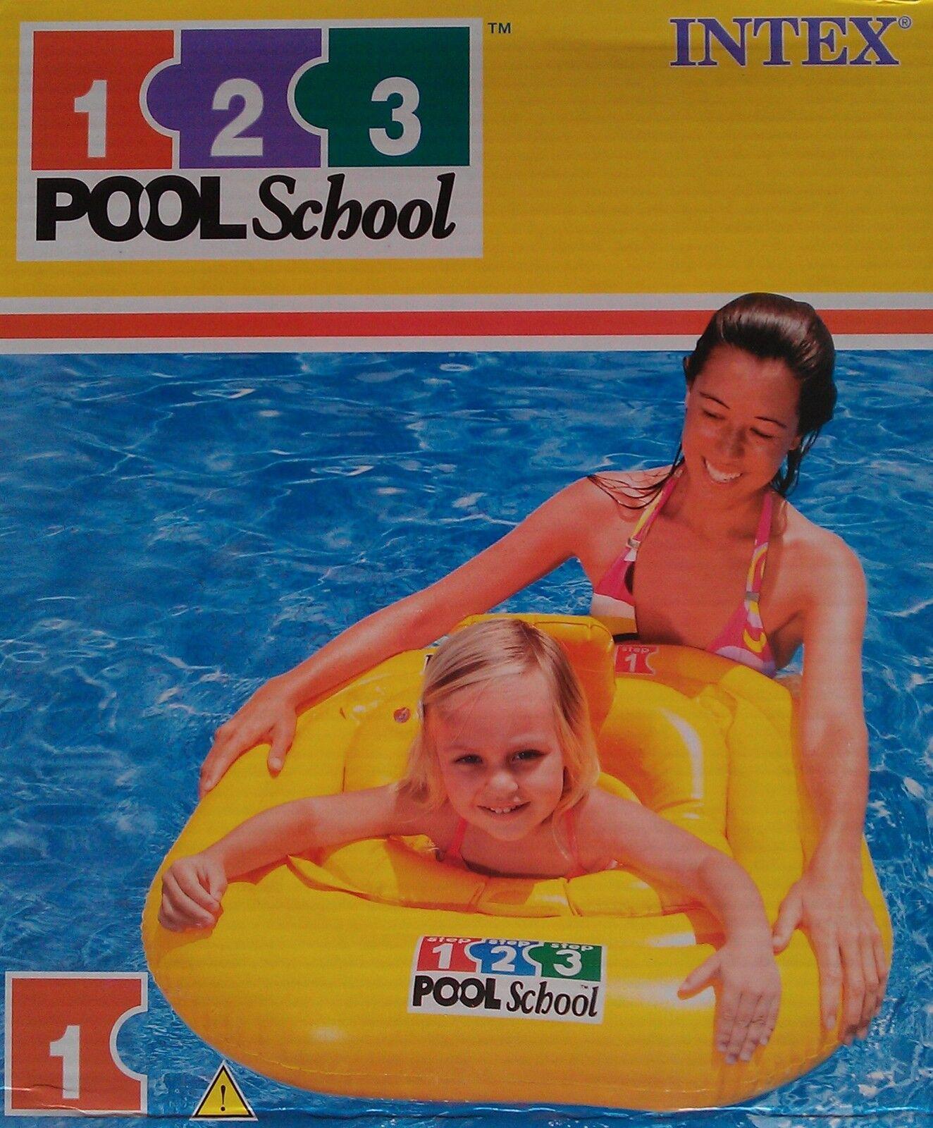 Intex PoolSchool Schwimmhilfe Schwimmring Schwimmsitz b… |