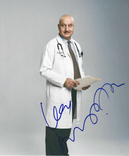 ANUPAM KHER SIGNED AUTHENTIC 'NEW AMSTERDAM' 8x10 PHOTO w/COA NBC TV ACTOR