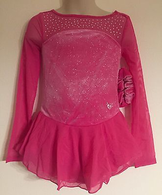 Figure Skating NEW Competition Dress Child L 10 Ice Skate Pink NWT Long Sleeve