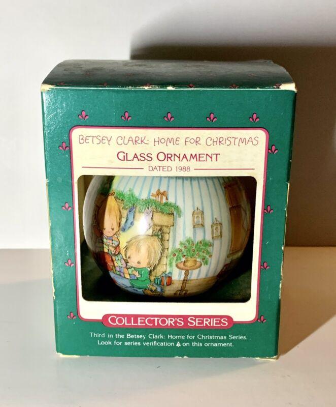 Hallmark Keepsake Glass Ball - Betsey Clark Home For Christmas Ornament 1986