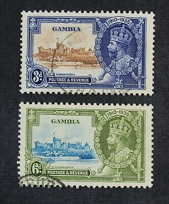 CKStamps:Gambia Stamps Collection Scott#126 Dash Variety #127 Bird Variety Used