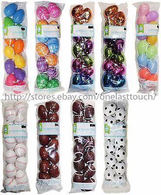 WAL-MART* 12pc Plastic EASTER EGGS For Candy/Treats BASKET FILLER *YOU CHOOSE*](Plastic Baskets Walmart)