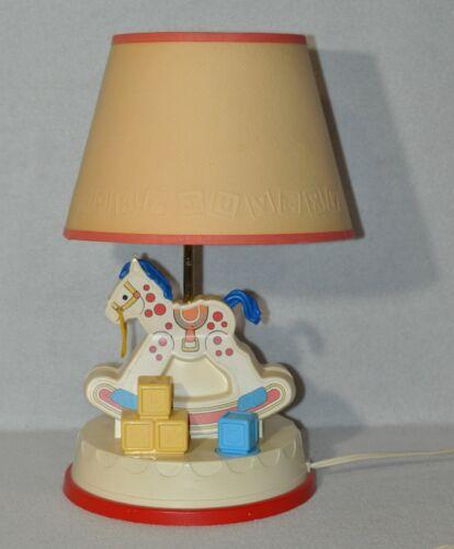 Vintage Fisher Price Baby Room Musical Rocking Horse Nursery Lamp #47 0120!!!