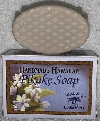 Island Soap Candle Works PIKAKE Handmade Hawaiian Bar Soap Pure Coconut 2 oz New Hawaiian Glycerin Soap