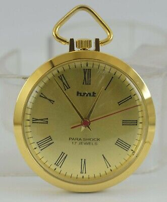 Vintage HMT Pocket 17Jewels Winding Watch For Unisex Use Working Good D-9-14