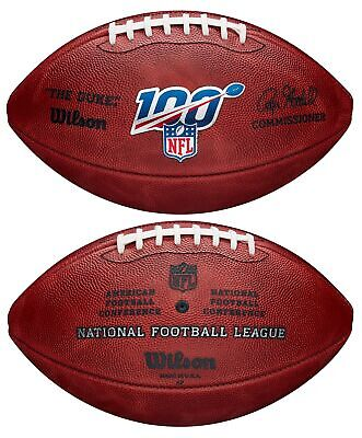 Official Leather 100 Year NFL Game Football by Wilson (Signed by Roger Goodell)