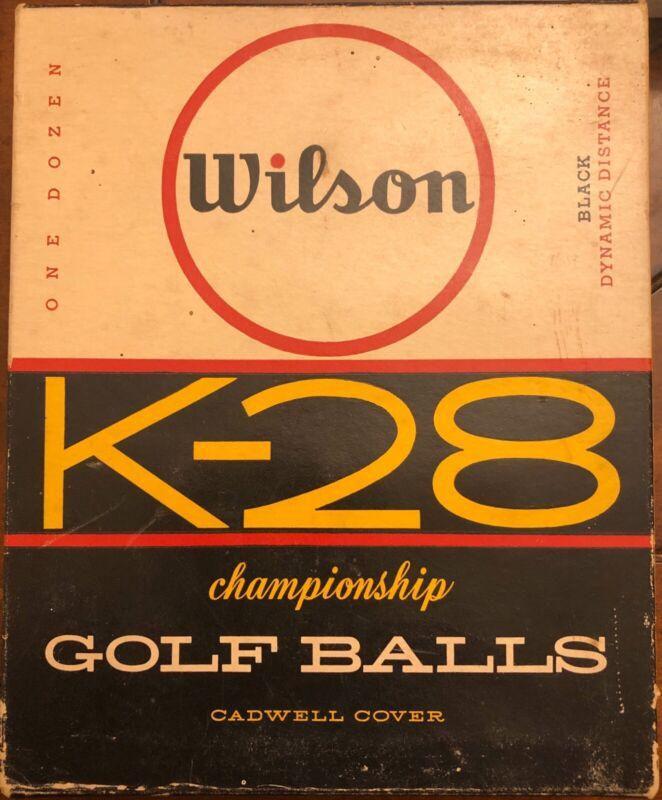 Vintage Wilson K-28 Golf Balls In Original Retail Box - New Old Stock 4 Sleeves