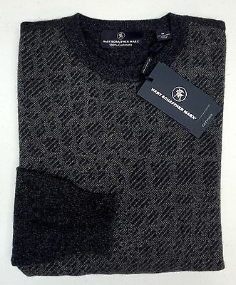 New Mens Cashmere Sweater - NWT $295 Hart Schaffner Marx 100% Cashmere Sweater Mens M L XL NEW Dark Grey NEW