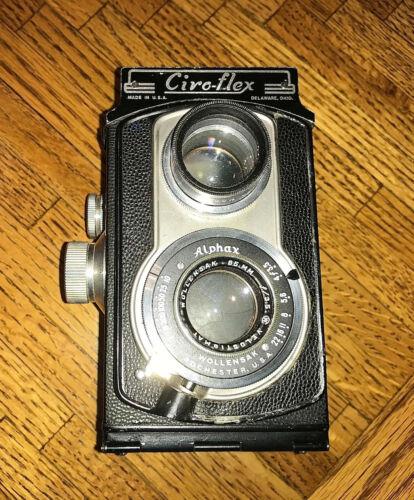 Ciro-Flex Alphax Model B - PRICE DROP TODAY - Vintage TLR camera & case.