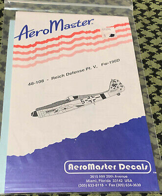COLORFUL FW-190D REICH DEFENSE PT.V AEROMASTER 48-108 1/48 FREE USA SHIPPING