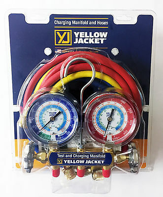 Yellow Jacket 42006 - Series 41 Manifold 3-18 Gauges Whoses R22134a404a