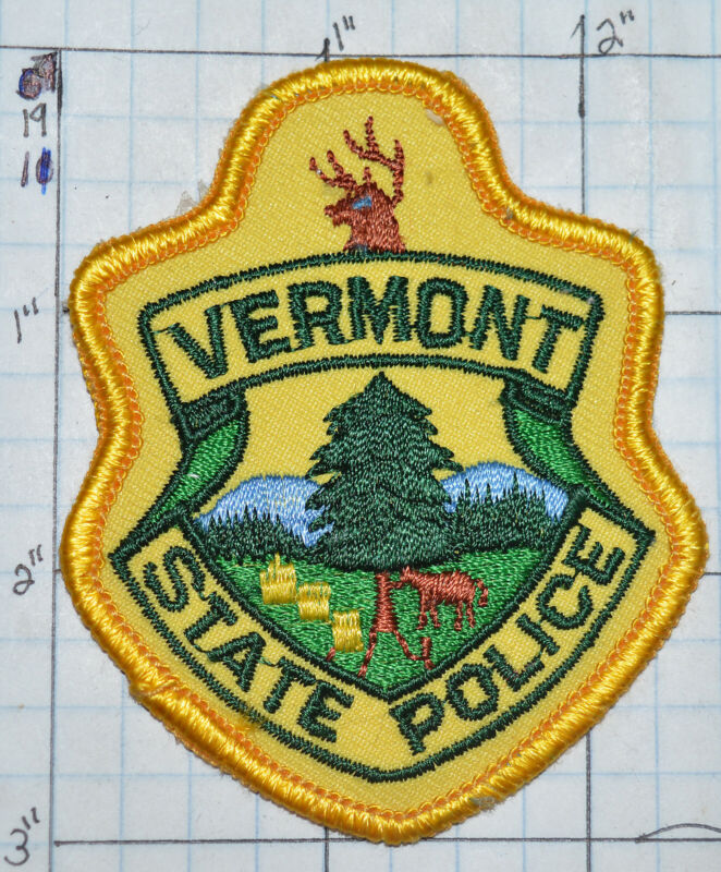 """VERMONT STATE POLICE DEPT SMALL HAT 3"""" PATCH"""
