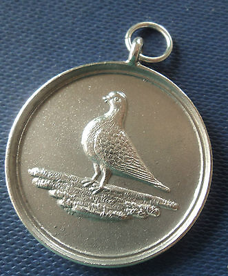 Unusual Stg. Silver Medal / Fob / Pendant - Racing Pigeon h/m 1929 not engraved