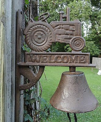 Cast Iron Breakfast Dinner Bell Tractor Farm Bell western stable welcome bell