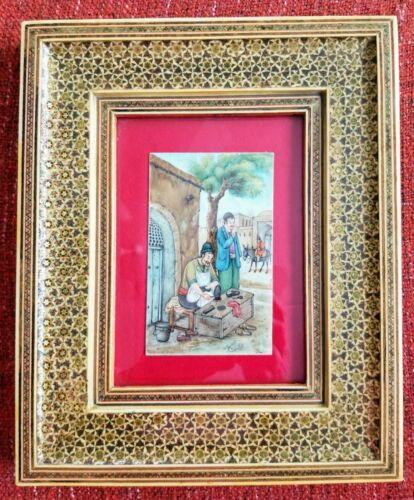 VINTAGE PERSIAN MINIATURE Painting