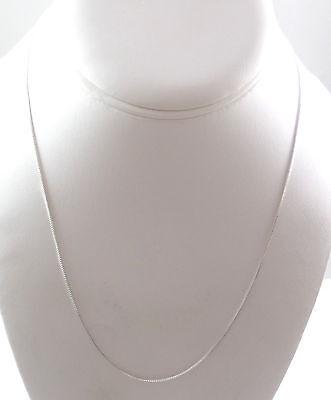 "Vintage 925 Sterling Silver ELEGANT Box Chain Necklace 18"" (1.4g) - 447674"