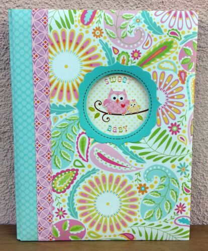 NEW CR Gibson Happi Owl Medallion Baby Girl Memory Keepsake Book