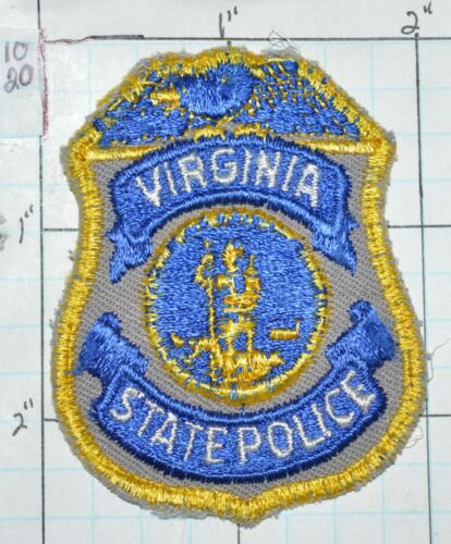 """VIRGINIA STATE POLICE SMALL HAT 2.5"""" USED PATCH"""